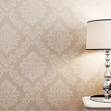 papel tapiz floral clásica serie de color beige de damasco color con ...