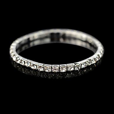 voordelige Herensieraden-Heren Dames Kristal Tennis Armbanden Goedkoop Kristal Armband sieraden Voor Bruiloft Dagelijks Causaal / Kubieke Zirkonia / Verzilverd / Kubieke Zirkonia