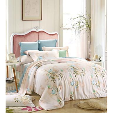soveværelse sæt queen king size senge sæt tencel elegant blomst ...