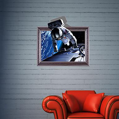 3d astronaut wall decor solar system 3d wall stickers decals astronaut bathroom decor mural pvc 3187618 2018 1429