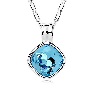 Margaret krátký náhrdelník pokovené 18k opravdovou platinovou akvamarín  krystalizuje rakouský křišťálové kameny 3767724 2019 –  22.99 5062d72a3c0