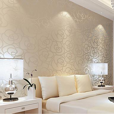 Papel tapiz contempor neo amarillo floral subi acabado flocado para ni as pared de la sala que - Papel decorativo para paredes ...
