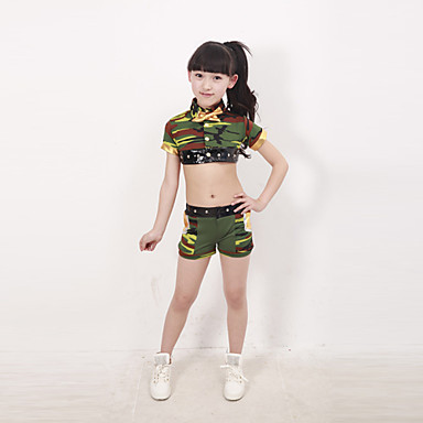 Jazz Performance Outfits Childrenu0027s Performance Polyester Camouflage Outfit Green Kids Dance Costumes 3060658 2018 u2013 $29.99  sc 1 st  LightInTheBox & Jazz Performance Outfits Childrenu0027s Performance Polyester Camouflage ...