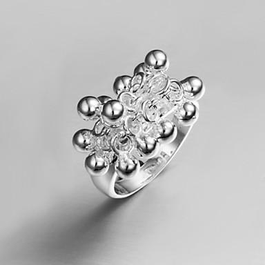 Χαμηλού Κόστους Μοδάτο Δαχτυλίδι-Βίντατζ / Χαριτωμένο / Πάρτι / Γραφείο / Καθημερινό Ασήμι στερλίνα Statement δαχτυλίδι