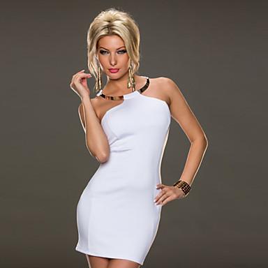 0a428aa0d12 Επίδοση/Ρούχα για Κλαμπ - Φορέματα - Γυναικεία ( Μαύρο/Μπλε/Φούξια/Κόκκινο/Λευκό  , Πολυεστέρας/Λύκρα 3171272 2019 – $29.99
