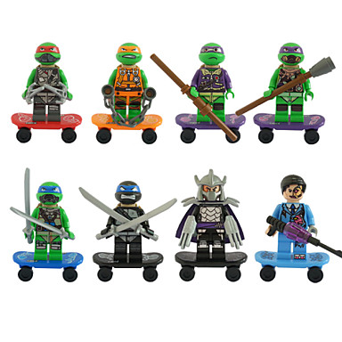 decool Teenage Mutant Ninja Turtles TMNT 8st / lot byggstenar inställd tegelminifigure leksak 501-508 ingen originalkartong