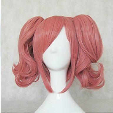 Cosplay Peruker Syntetiska peruker Kostymperuker Löst vågigt Löst vågigt Peruk Rosa Rosa Syntetiskt hår Dam Rosa hairjoy
