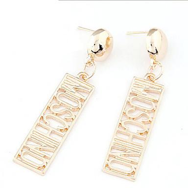 povoljno Modne naušnice-Žene Viseće naušnice Monogrami Statement Početno Nakit Naušnice Jewelry Zlato Za