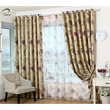 country curtains one panel purple floral blackout curtain u2013