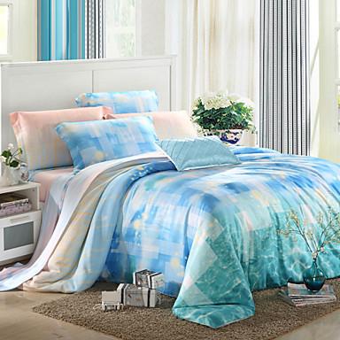 soveværelse sæt queen king size senge sæt tencel elegant sengetøj ...