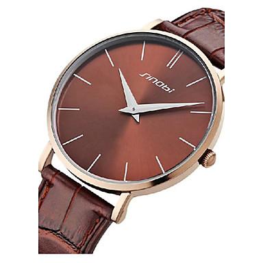 5aff8c14fdb sinobi pánské tenké kožené pouzdro kapela quartz analogové náramkové hodinky  (různé barvy) 3083031 2019 –  9.99