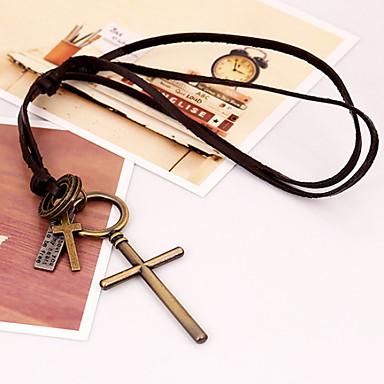 Halsband med hängsmycke ( Legering/Läder Vintage/Party/Casual