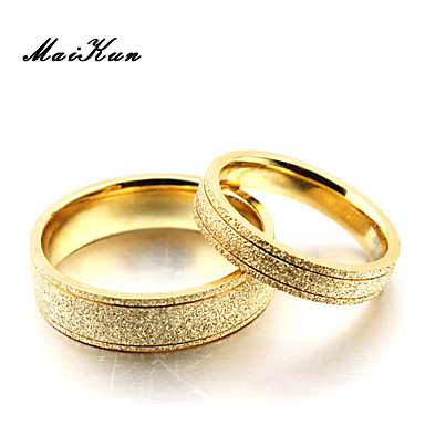 2015 New Male Models Frosted Couple Rings Gold Rings 3133271 2019