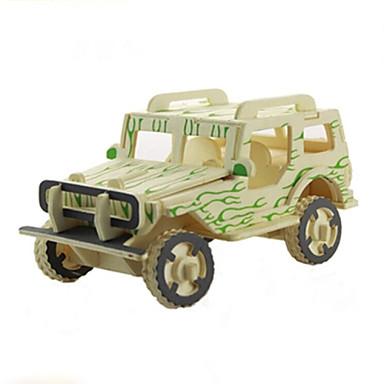 jeep trä tredimensionellt pussel pedagogiska diy