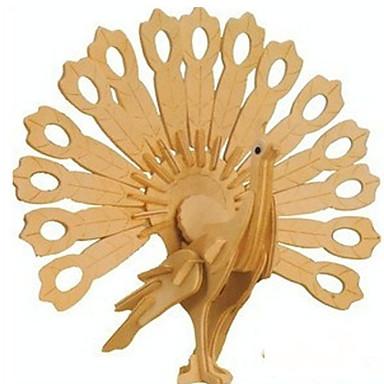 3 d pussel trä hantverk påfåglar