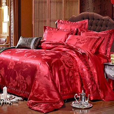 luxus jacquard selyem pamut king queen size 4db ágynemű huzatot paplan  coverhome textil huzat síklemez 3073591 2019 –  93.44 e8115e8abb