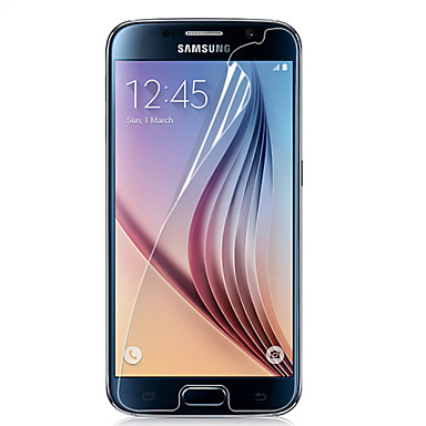 preiswerte Bis zu 0,99 $-Displayschutzfolie für Samsung Galaxy S6 PET Vorderer Bildschirmschutz High Definition (HD)