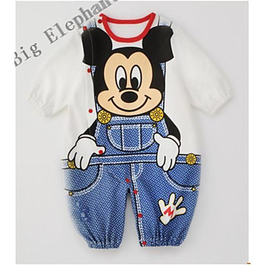 Big Elephant New Cotton Mickey Romper Baby Clothes Boys Set Pajamas