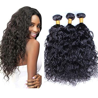 povoljno Ekstenzije od ljudske kose-3 paketa Peruanska kosa Water Wave Ljudska kosa Ljudske kose plete Isprepliće ljudske kose Proširenja ljudske kose / Vodeni valovi