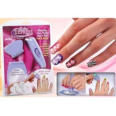 1 pcs Nail DIY Tools Nail Painting Tools Mall Djurserier / Blomserier Kreativ nagel konst manikyr Pedikyr Mode Dagligen / Plast