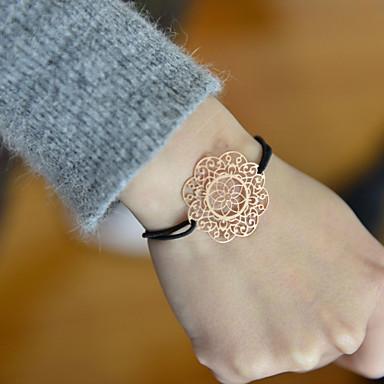 levne Dámské šperky-Dámské Korálkový náramek Lotus Látka Náramek šperky Stříbrná / Růžová / Zlatá Pro Svatební Párty Denní Ležérní Sport