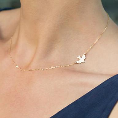 Dam Kristall Hänge Halsband Tofs Mode sidled Legering Brun Halsband Smycken Till Speciellt Tillfälle Födelsedag Gåva Dagligen