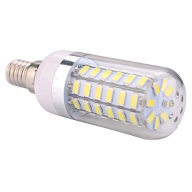ywxlight® e14 60led 5730smd varm vit kall vit ledd majslampa ljuskrona för hemljus ledd lampa AC 110-130v AC 220-240v