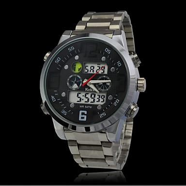 0fe5c3e2879 fashion vodotěsné sportovní hodinky mužům plný ocelový Analogové Digitální  šaty hodinky vojenské hodinky ponoru vedl hodiny 3392493 2019 –  18.99