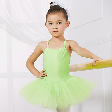 cheap Dancewear & Dance Shoes-Ballet Dress Training Performance Sleeveless Spandex Tulle / Princess