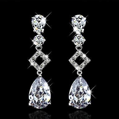 povoljno Modne naušnice-Kubični Zirconia Vrhunski kristal Dangling Zabava Posao Elegantno Zircon Kubični Zirconia Naušnice Jewelry Obala Za