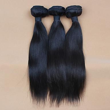 povoljno Remy umeci od ljudske kose-10 '' - 32 '' 3pcs / Mnogo # 2 boja neprerađeni sirovo peruanski djevica kosa ljudske kose plete / potka pakete