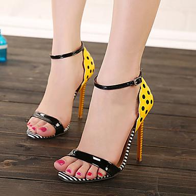 Habillé Talons Aiguille Jaune Talon Femme Chaussures Rose x8qwB0a65