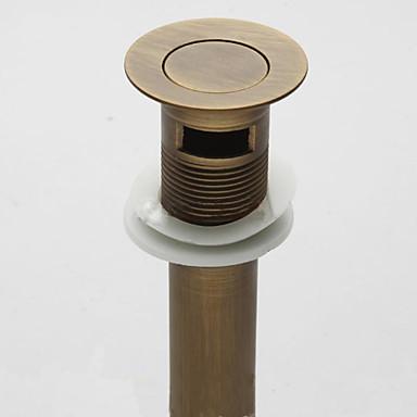 Kran tillbehör - Överlägsen kvalitet - Vintage Mässing Pop-up vattenavlopp utan överflöde - Avsluta - Antik Brons