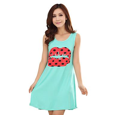 86983be2210d Pyjamas Nightwear qianxiu Female Women Pajamas Robe Sleepwear Pajama Sleeping  Dress Black Kiss Printing 3295460 2019 –  19.98