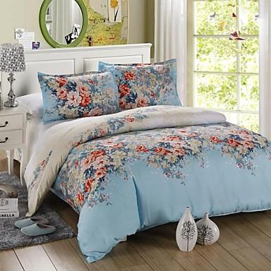 sengetøj blomster Mingjie blå blomster sengetøj sæt 4stk dynebetræk sæt sengetøj  sengetøj blomster