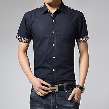 heta 2015 nya sommarens mode män blommig ärm slim fit män kortärmad skjorta  män 100% bomull trend tillfälliga män skjorta sociala 3402630 2019 –  28.59 3400a53181d4b