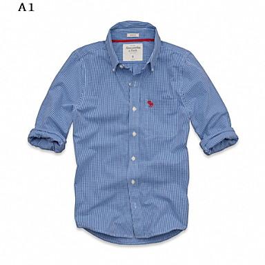 2016 új divat férfi pamut hosszú ujjú ingek híres márka MAM alkalmi kockás  ing férfi ruházat 8 színben 3403125 2019 –  63.79 8663d8ac5c