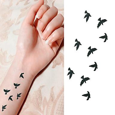 1 pcs tillfälliga tatueringar Vattentät / Ogiftig Papper Tatueringsklistermärken / Ländrygg