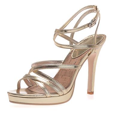 3cc842c2000 Γυναικεία παπούτσια - Πέδιλα - Γάμος / Πάρτι & Βραδινή Έξοδος - Τακούνι  Στιλέτο - Λουράκι στη Φτέρνα - Δερματίνη - Ασημί / Χρυσό 3264672 2019 –  $39.99