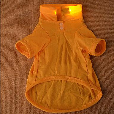 Hund T-shirt Hundkläder Orange Gul Grön Kostym Cotton Cosplay XS S M L XL