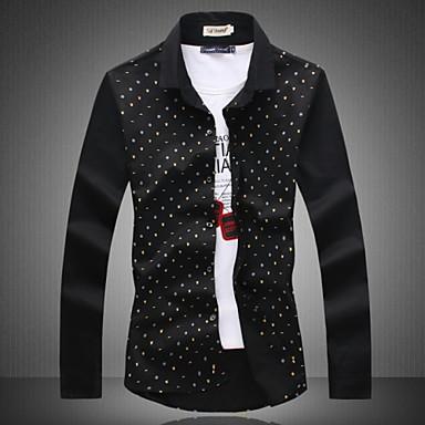 ad531c356e1 Hot Sale New 2015 Mens Dress Shirt Cotton Casual Men Long-sleeved Shirts  Slim Fit Spring Autumn Men s Clothing 3403860 2019 –  32.99