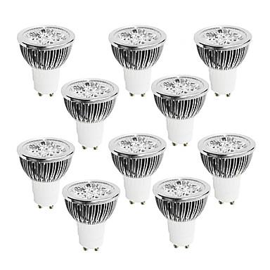 10pcs 4 W 400-450 lm GU10 LED-spotlights 4 LED-pärlor Högeffekts-LED Bimbar Varmvit / Kallvit / Vit 220-240 V / 10 st / RoHs
