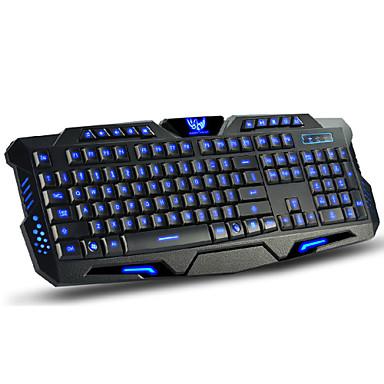LITBest M200 USB-kabel gaming tangentbord Multimedia tangentbord Självlysande Multi färg bakgrundsbelysning 114 pcs Keys
