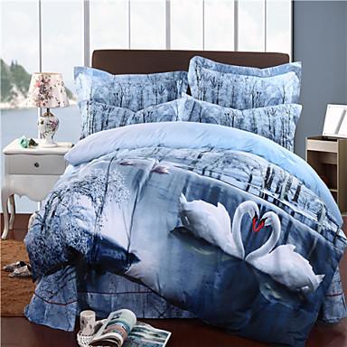 mingjie téli hattyú kék 3d pamut ágynemű-készletek 4db nagyméretű ágynemű  china duvert tartozniuk 3273097 2019 –  75.59 4b0bdb179e