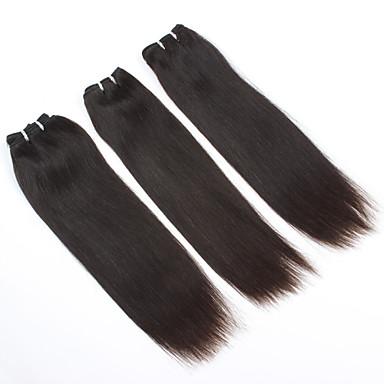 povoljno Ekstenzije od ljudske kose-8 '' - 16 '' 3pieces / postaviti # 2 boje Brazilski djevica kose ljudske kose plete