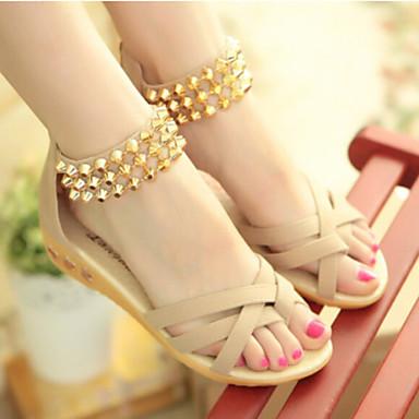 f00fec9ad7 Mulheres Sapatos Tecido Primavera Verão Outono Conforto Rasteirinhas Salto  Plataforma Tachas Ziper para Social Preto Bege Fúcsia de 3311466 2019 por   17.99