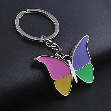 unisex legering avslappnad mode färgglada fjäril nyckelringar