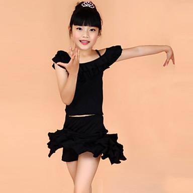 d22efbe5d Latin Dance Outfits Training   Performance Polyester Short Sleeves ...