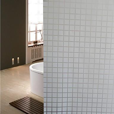 badkamer glasfolie& stickers, wit raster glazen deur sticker ...