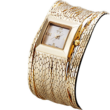 cheap Square & Rectangular Watches-ASJ Women's Luxury Watches Wrist Watch Gold Watch Quartz Ladies Water Resistant / Waterproof Silver / Gold / Rose Gold Analog - Rose Gold Gold Silver One Year Battery Life / Stainless Steel